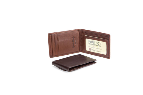 RFID BI-FOLD WITH MAGNETIC MONEY CLIP