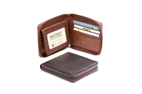 RFID ZIPPERED PASSCASE