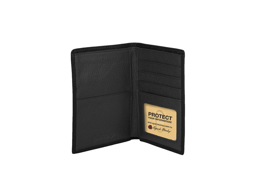 RFID Passport Wallet Black