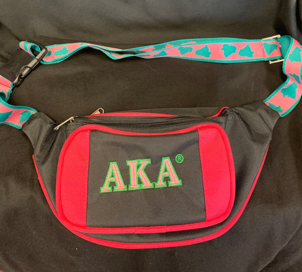 AKA Fanny Pack - Black with Ivy on Belt