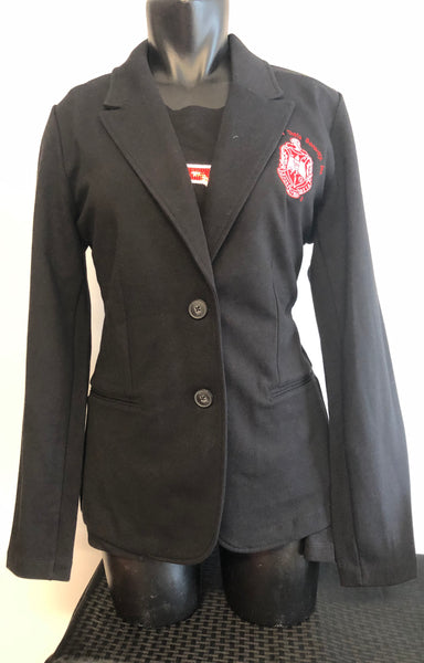 Delta Black Knit Blazer (Shield)