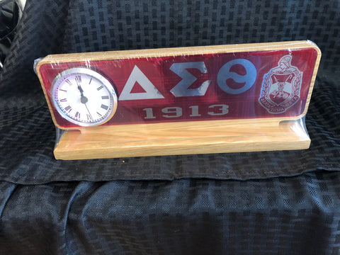 Delta Desk Letters with Clock