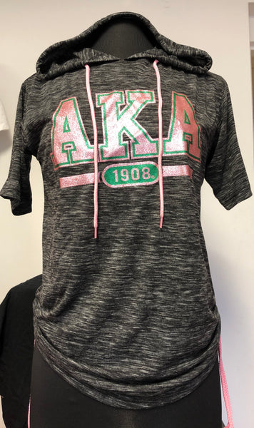 AKA Pink Light Special - AKA Tee-Shirt Hooded Shimmery