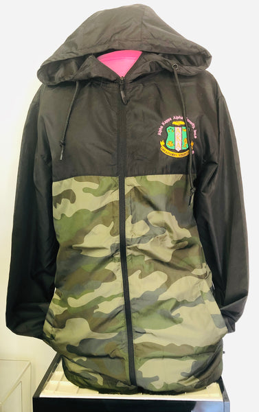 AKA Jacket Camo Half Windbreaker