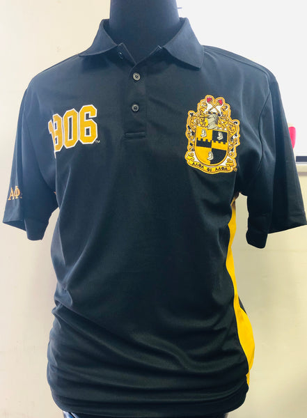 Alpha Phi Alpha Polo SS Black Collar