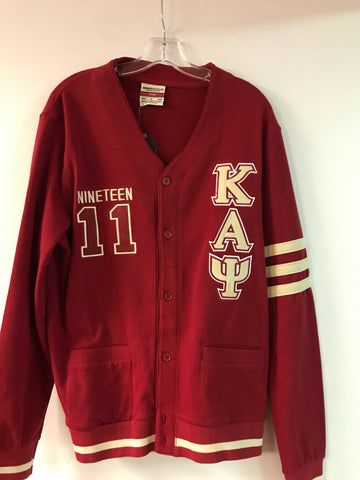 Kappa Cardigan Sweater (W/ Stripped Sleeve)