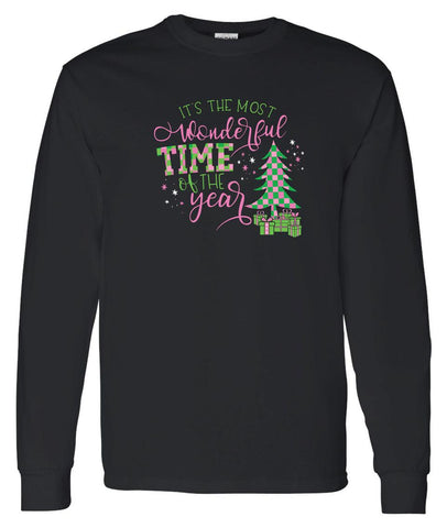 AKA  Christmas Long Sleeve Tee Shirt