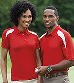 Sherwood Middle School Ladies' or Men's Performance contrast Polo Embroidered