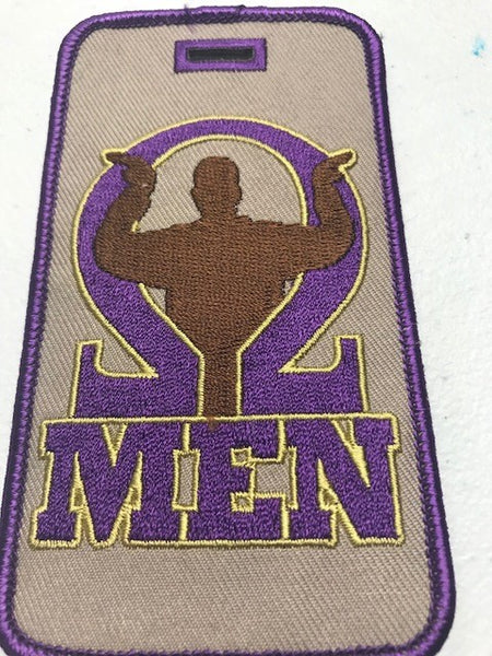 Omega Psi Phi Luggage Tag