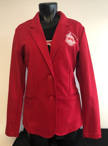 Delta Red Knit Blazer