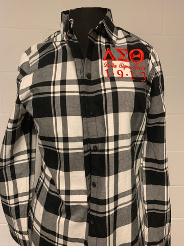 Delta Black and White Flannel