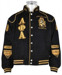 Alpha Phi Alpha Jacket Black Racing