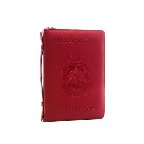 "Delta - The DELUXE"" Leather Ritual Book Cover RED"