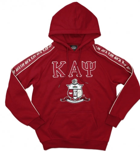 Kappa Hoodie Pullover - w/greek letters down the sleeve