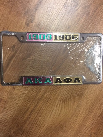 AKA and Alpha Phi Alpha - Split Licence Plate