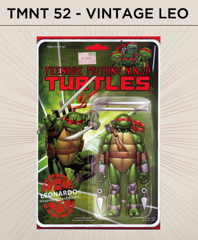 Teenage Mutant Ninja Turtles 52 - Vintage Leonardo Action Figure Cover