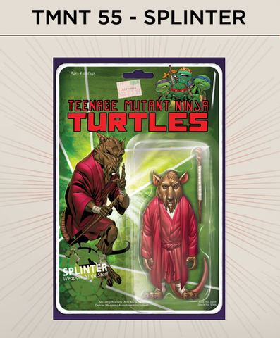 Teenage Mutant Ninja Turtles 55 - Splinter Action Figure Cover