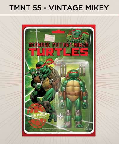 Teenage Mutant Ninja Turtles 55 - Vintage Michelangelo Action Figure Cover