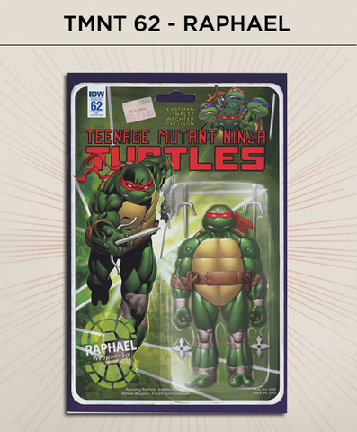 Teenage Mutant Ninja Turtles 62 - Raphael Action Figure Cover