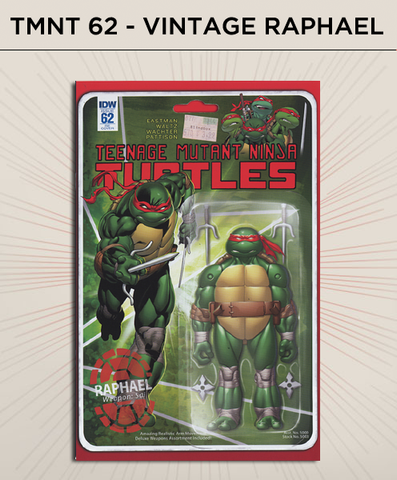 Teenage Mutant Ninja Turtles 62 - Vintage Raphael Action Figure Cover