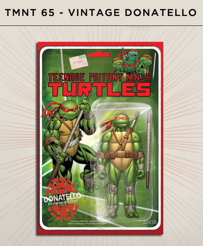 Teenage Mutant Ninja Turtles 65 - Vintage Donatello Action Figure Cover