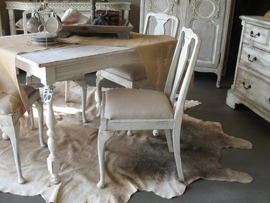 Distressing  Painted Chairs using Dry Brushing