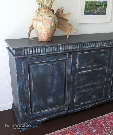 Painting My Indigo Blue Sideboard