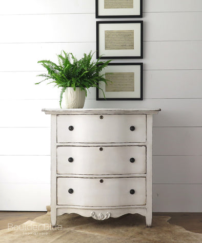 Painting Antique Painted White Chest