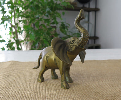 Decorating with Vintage Brass Figurines