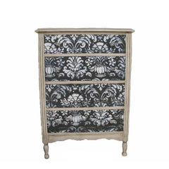 damask stencilled chest