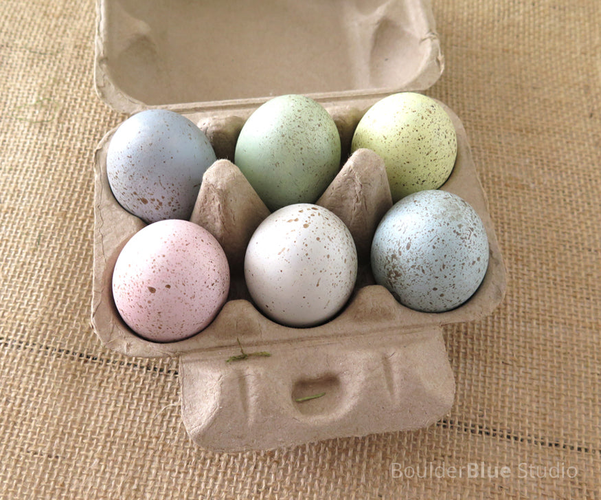 painted ceramic eggs