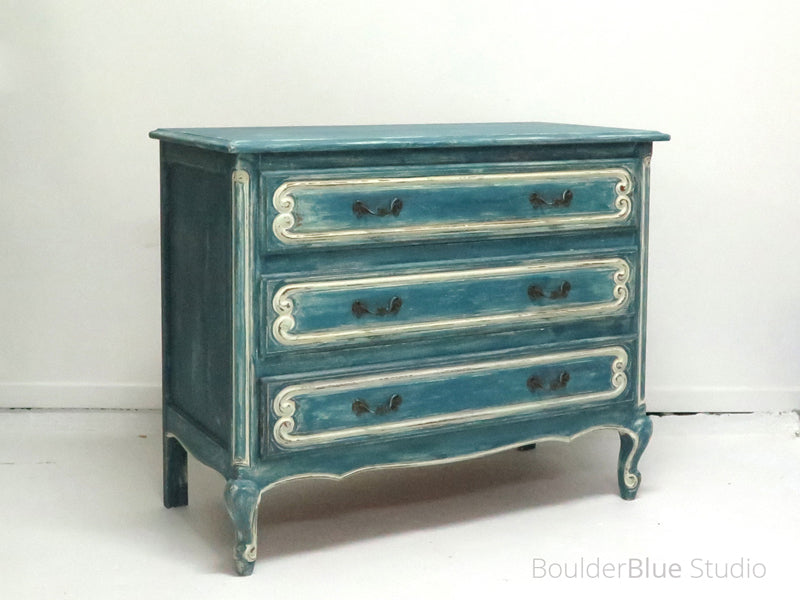 French Blue Chest