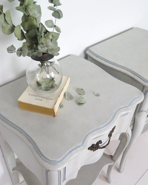 french provincial nightstand top