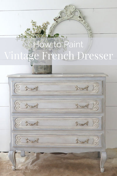 French painted dresser