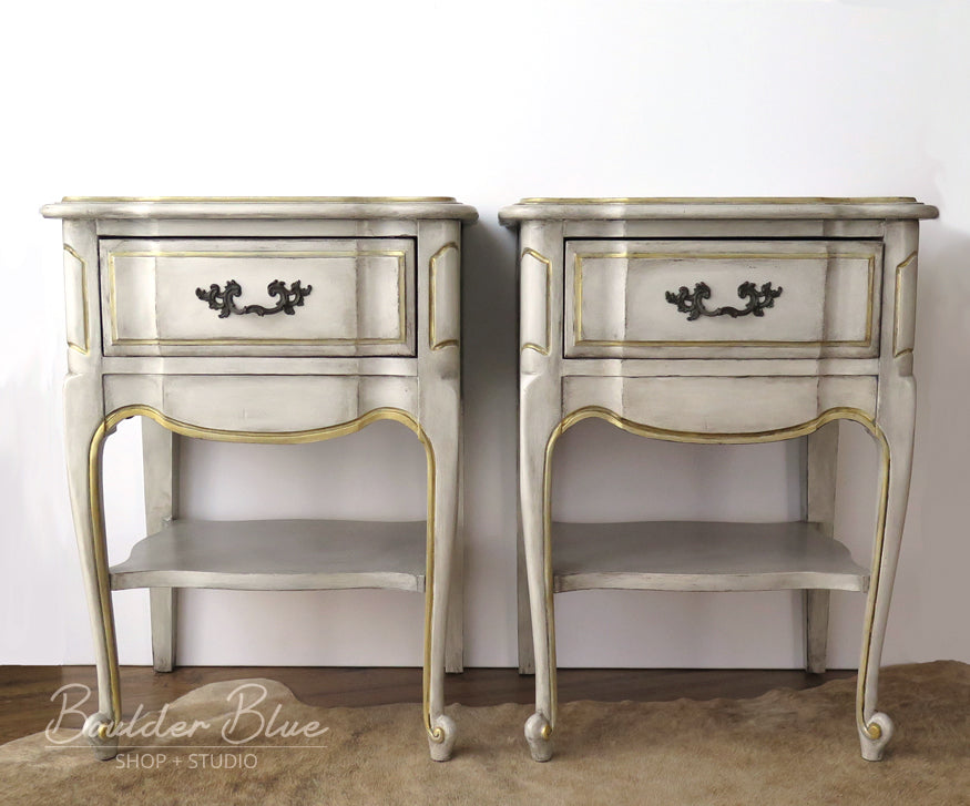 Painted French Provincial Nightstands