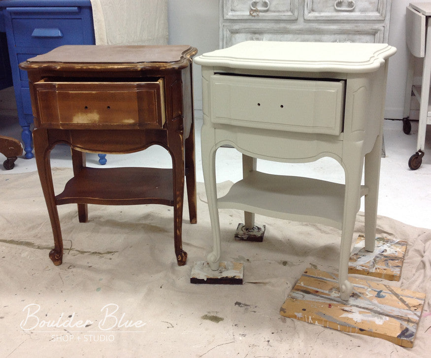 French Provincial Nightstands Before