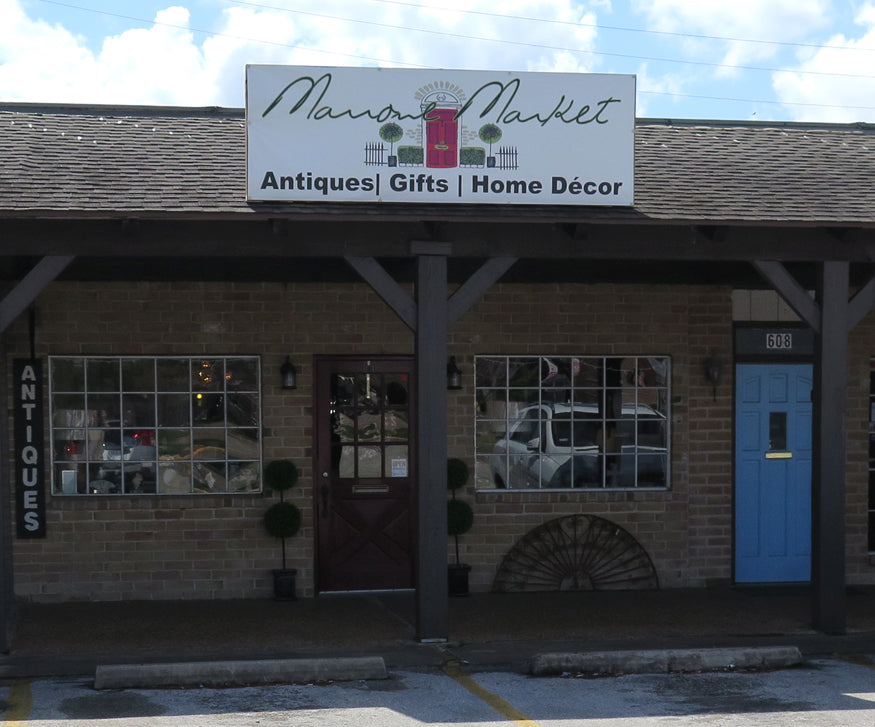 ... antique shop in Houston. After leaving there, I have focused my  business online where Sharon fulfilled a dream and opened her own shop,  Marrone Market.