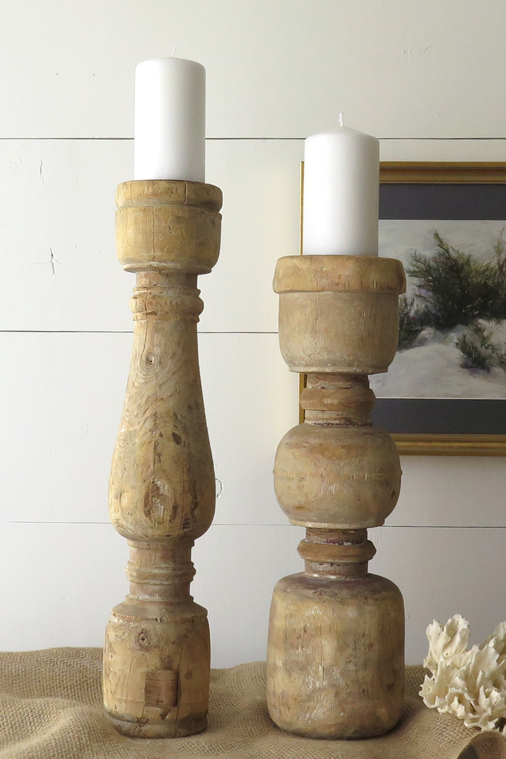 Extra Large Candle Holders Pair