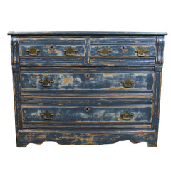 distressed navy chest