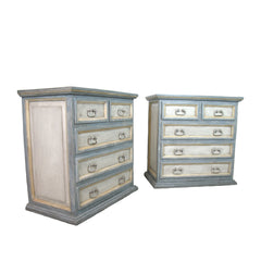 pair painted chests