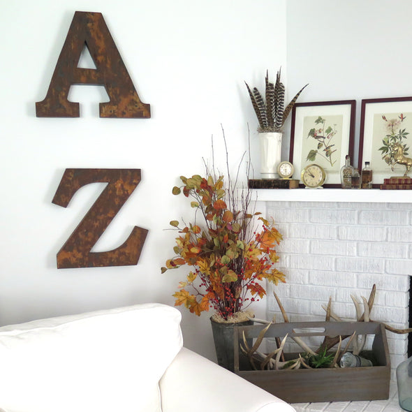 Metal Marquee Letters A and Z
