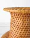 Vintage African Woven Vase Basket close up
