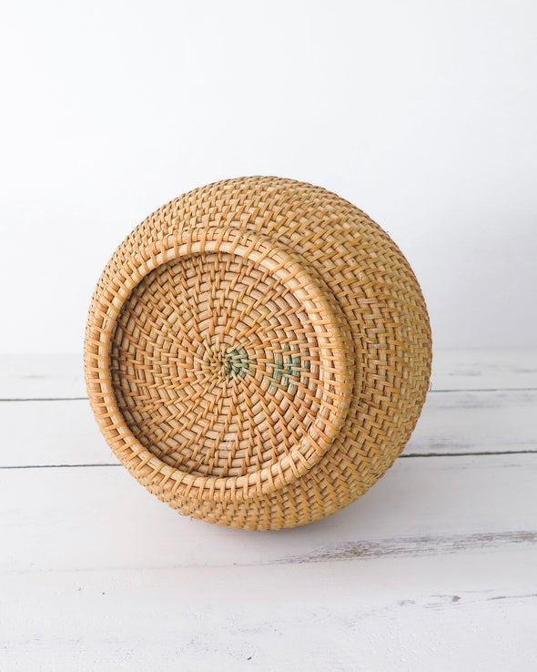 Vintage African Woven Vase Basket bottom