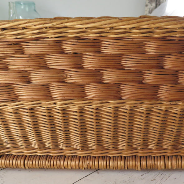 French Wicker Laundry Basket
