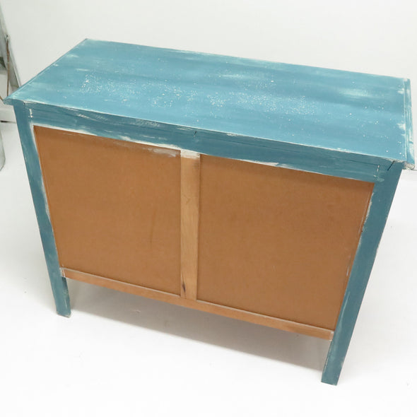 Vintage Painted French Commode Chest back view