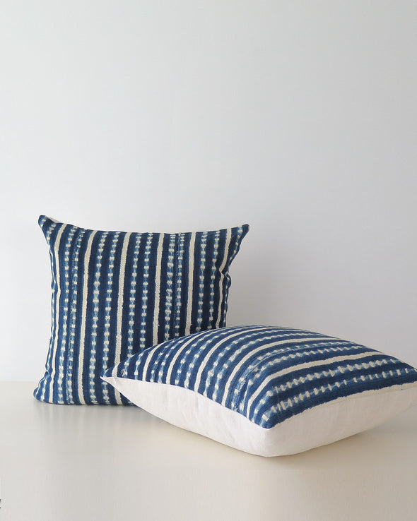 pair of Indigo Burkina Faso Pillows