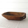 Antique Turkish Wood Dough Bowl
