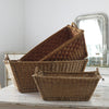 group of French Wicker Laundry Basket