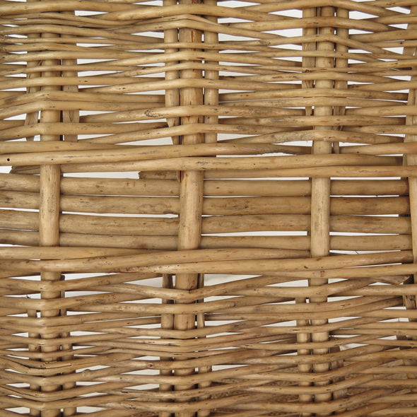 French Laundry Oval Wicker Basket close up
