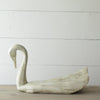 Painted Carved Wood Swan